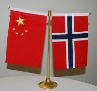 China norway flags