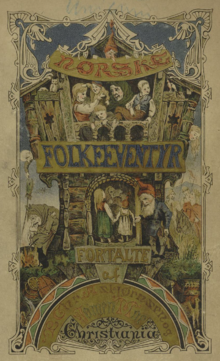 Asbjornsen and moe's norske folkeeventyr 1874 book cover